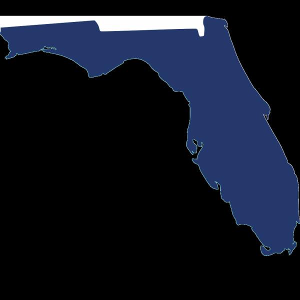 Dark Blue Florida PNG Clip art