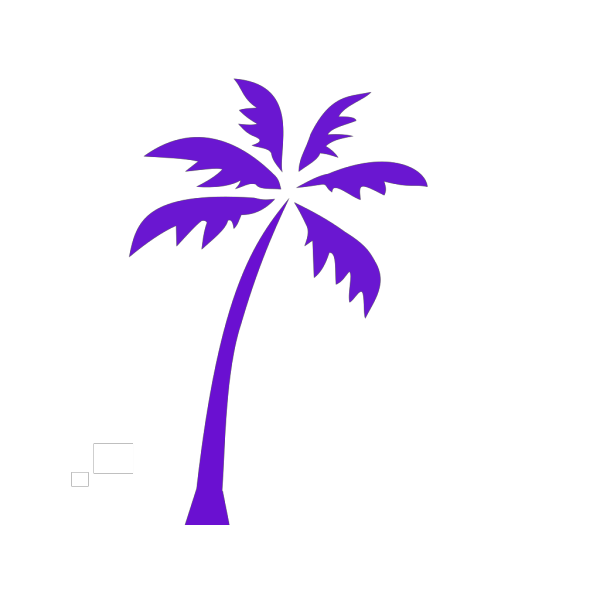 Blue Palm Tree PNG Clip art