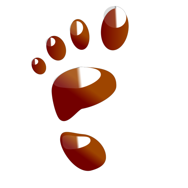 Brown Footprint PNG images