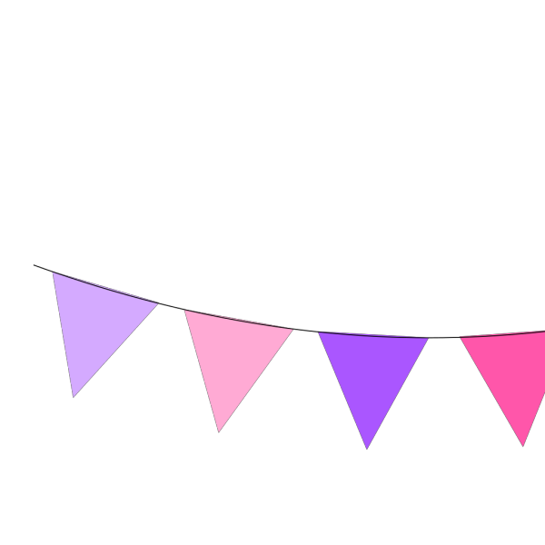 Pink Brown Bunting PNG Clip art