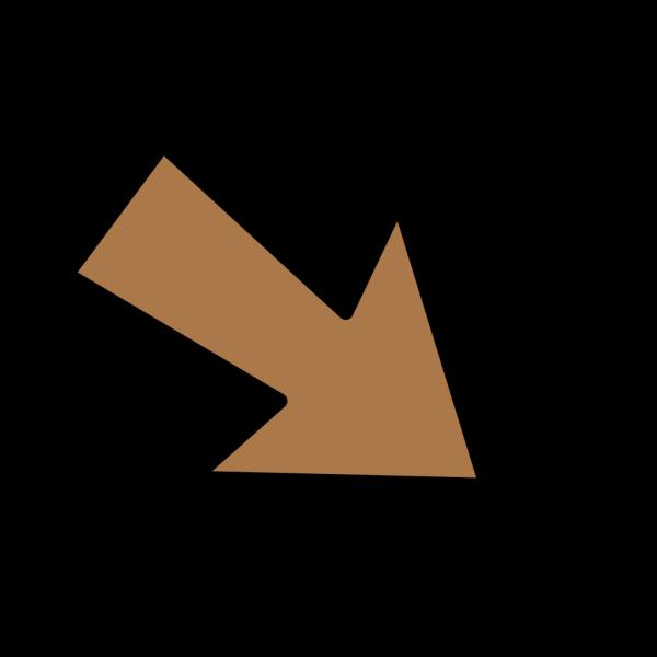 Anglebrownarrow PNG Clip art