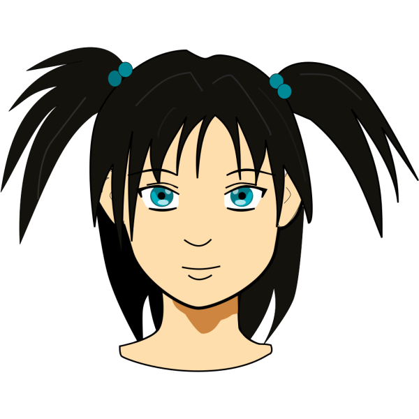 Girl With Pigtails PNG Clip art