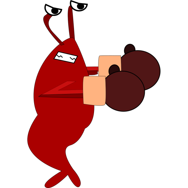 Boxing Shrimp PNG Clip art