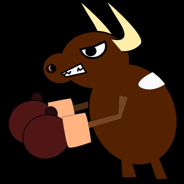Boxing Bull PNG Clip art
