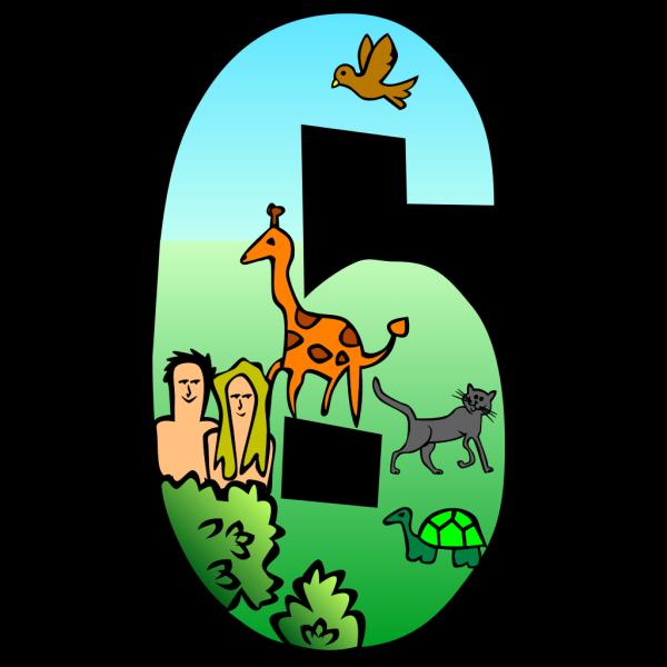 Creation Days Number 6 PNG Clip art