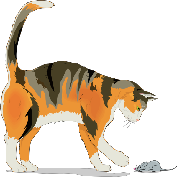 Cat With Mouse PNG Clip art