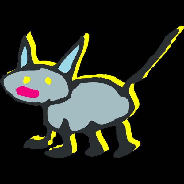 Gray Cartoon Cat