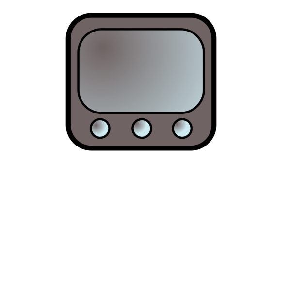 Gray Television Icon PNG Clip art