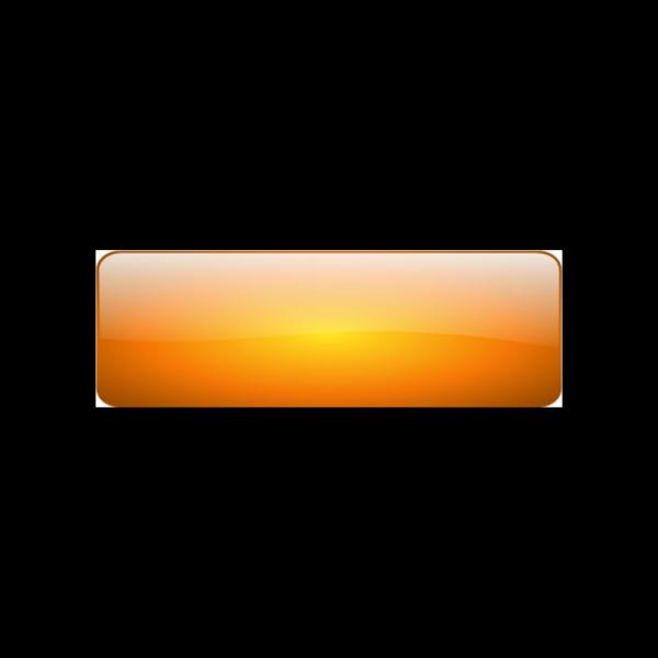Rectangular Orange Button PNG Clip art