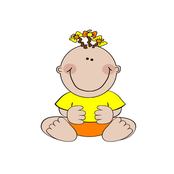 Spring Time Baby PNG Clip art