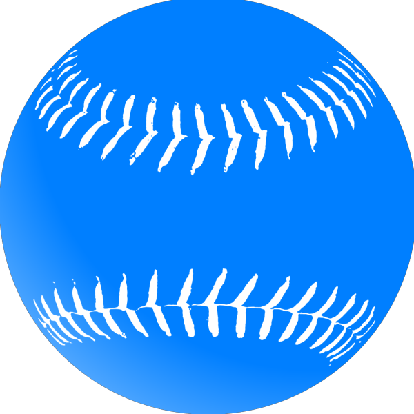 Blue Softball PNG Clip arts