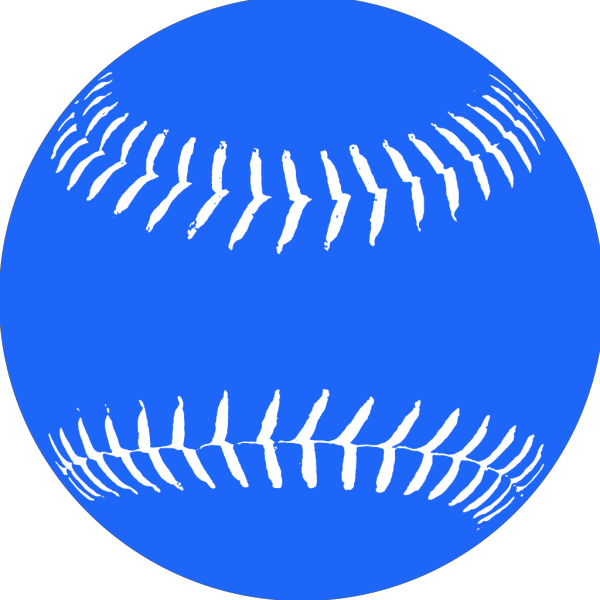 Blue Softball 2 PNG image