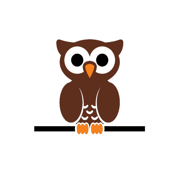 Owl On A Branch PNG Clip art