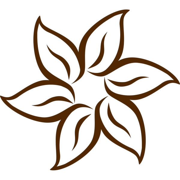 Brown Flower PNG Clip art