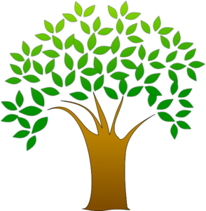 Flowered Tree PNG Clip art
