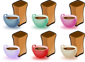 Coffee Cups And Bean PNG icons