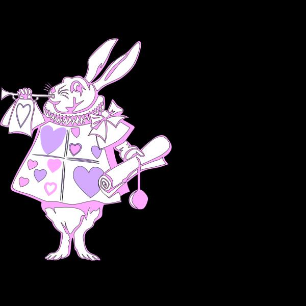 Pink Rabbit PNG Clip art