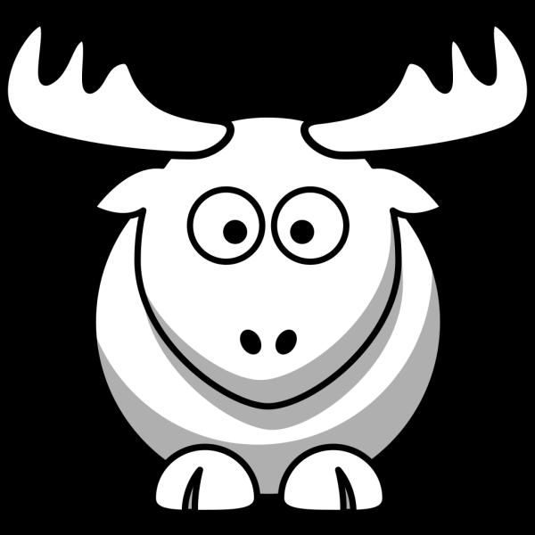 Elk Outline PNG Clip art