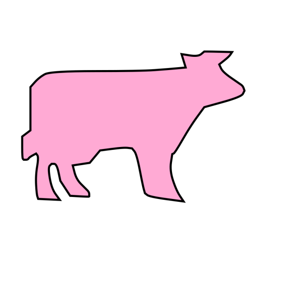 Cow Outline PNG Clip art