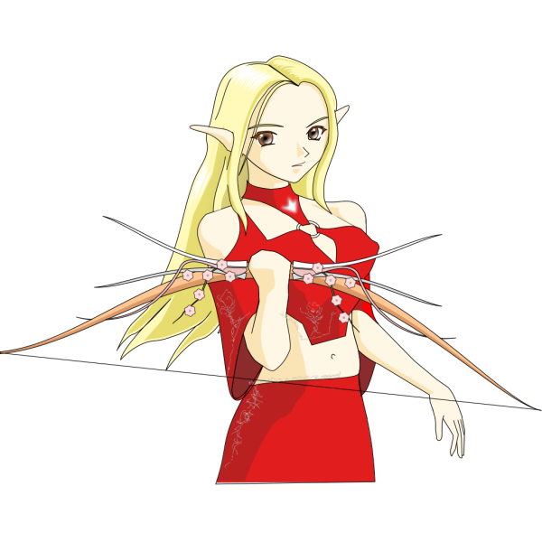 Anime Elf Archer PNG images
