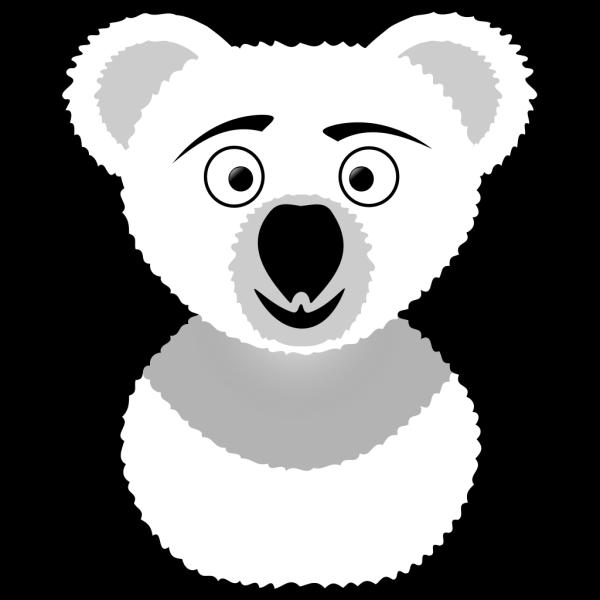 Koala Outline PNG Clip art