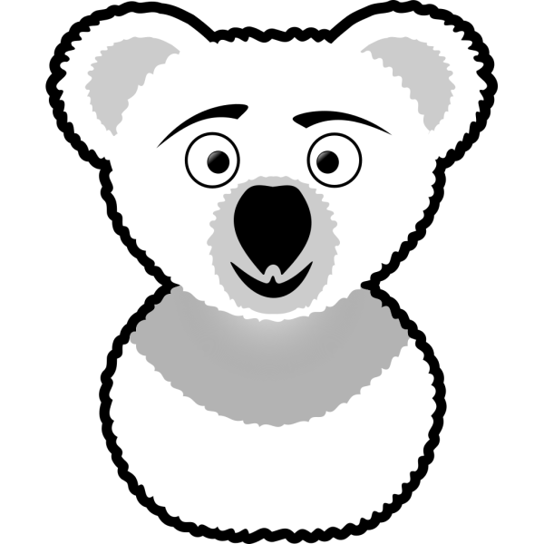 Koala Outline PNG images