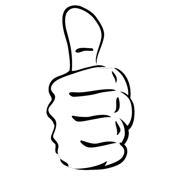 Black Thumbs Up PNG images