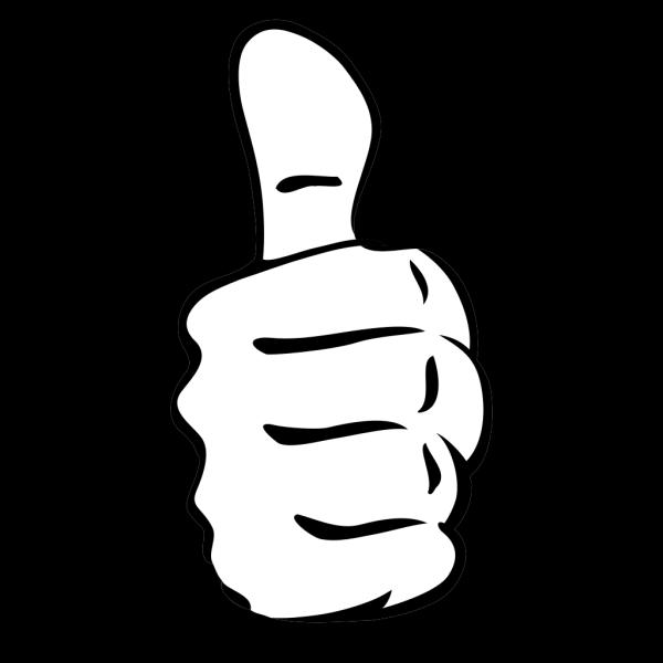 Black Thumbs Up PNG Clip art