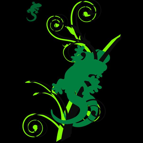 Gecko Branch PNG Clip art