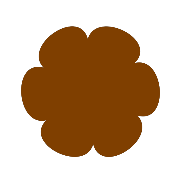 Brown Flower 3 PNG Clip art