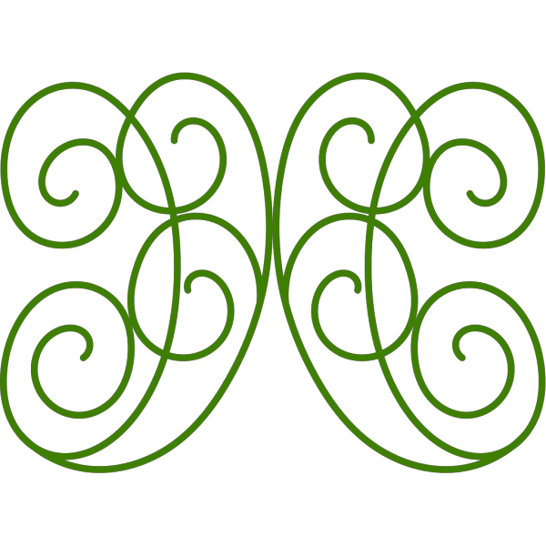 Swirl Green And Brown PNG Clip art