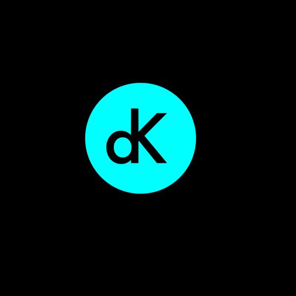 Dk Initials On Blue PNG Clip art