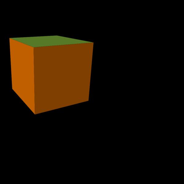 Brown-green Cube PNG Clip art