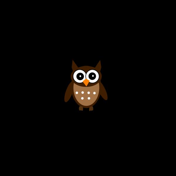 Brown Cute Owl PNG Clip art