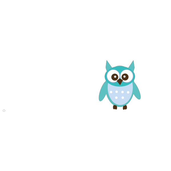 Cute Blue Owl3 PNG images