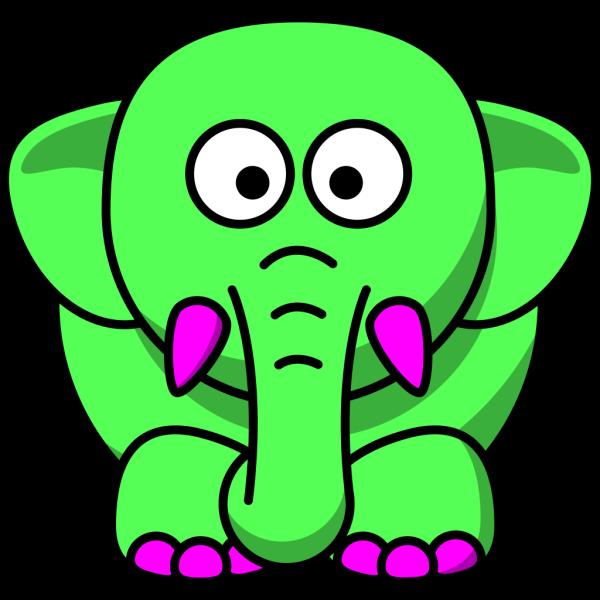 Mint Elephant PNG Clip art
