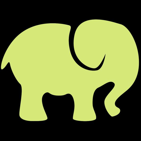Green Elephant PNG Clip art