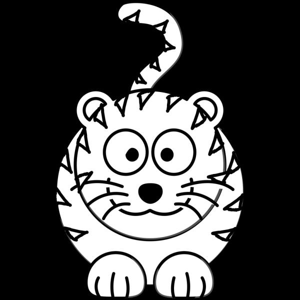 Cartoon Tiger Outline PNG Clip art