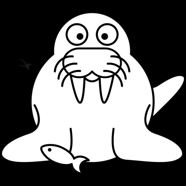 Walrus Outline PNG Clip art