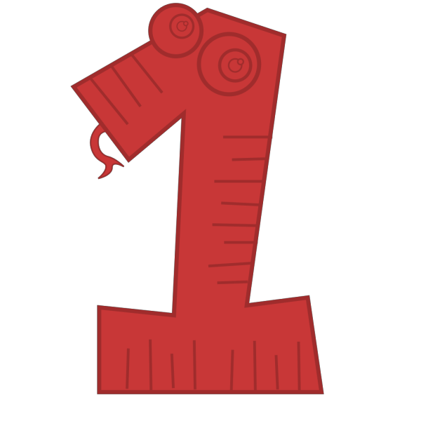 One Red PNG Clip art