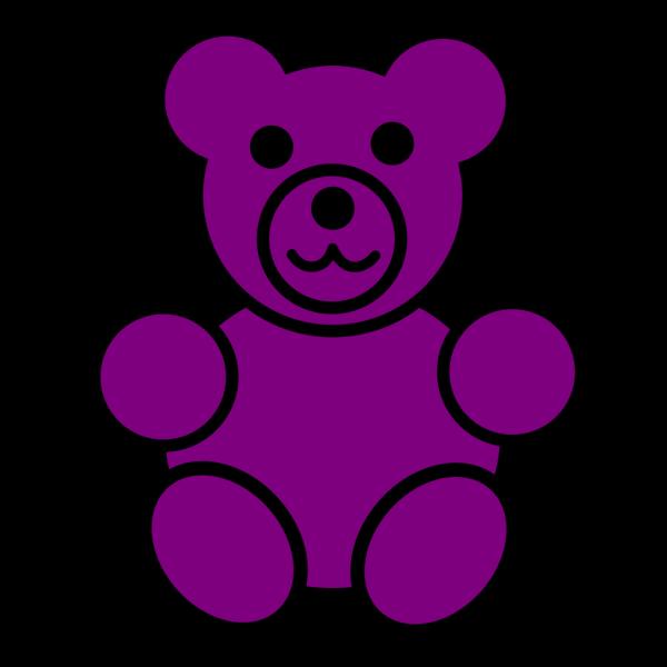Purple Bear PNG Clip art