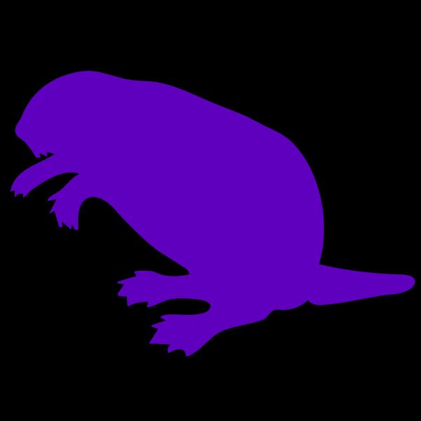 Purple Beaver PNG Clip art
