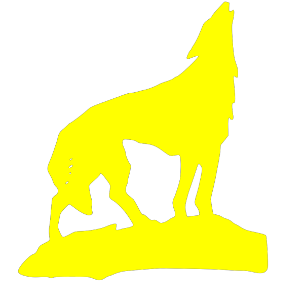 Yellow Wolf PNG Clip art
