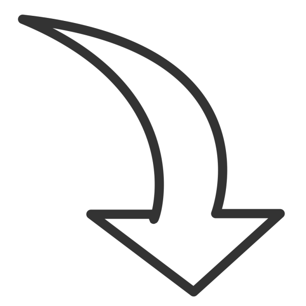 White Curved Arrow PNG Clip art