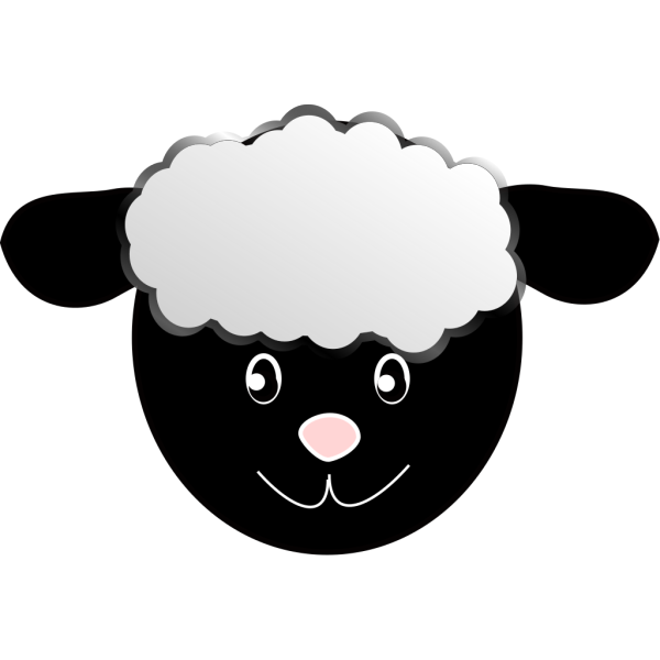 Black Happy Sheep PNG Clip art