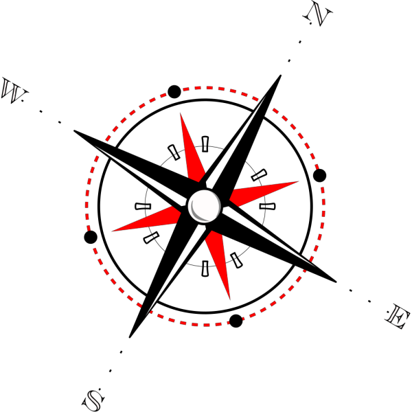 Red Black Compass PNG Clip art