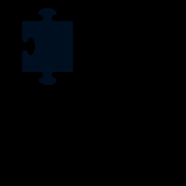 Black Border Puzzle Piece PNG Clip art