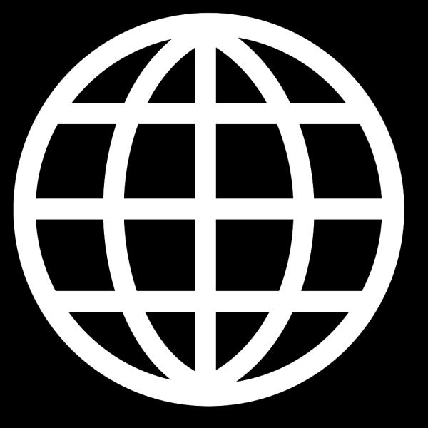 Black And White Globe PNG Clip art