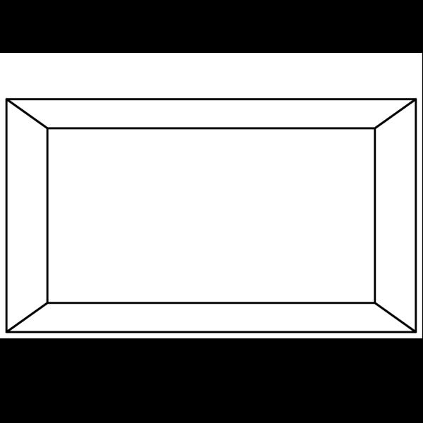 Simple Frame Black PNG Clip art