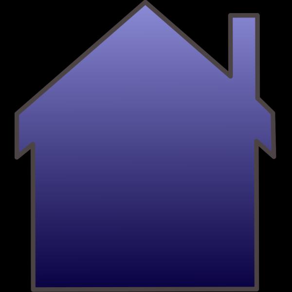 Blue House Reverse PNG Clip art